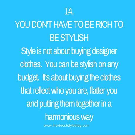 Style is Not About Money
