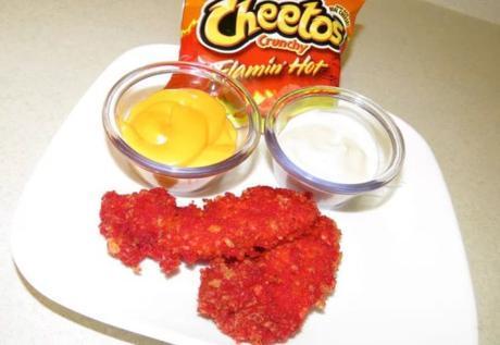 Flamin' Hot Cheetos Fried Chicken