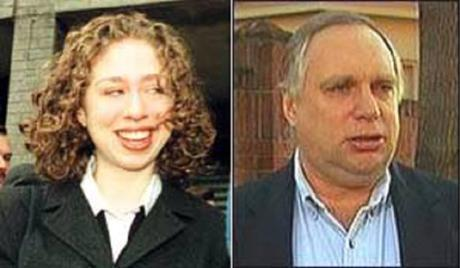 Chelsea Clinton (l) and Wester Hubbell
