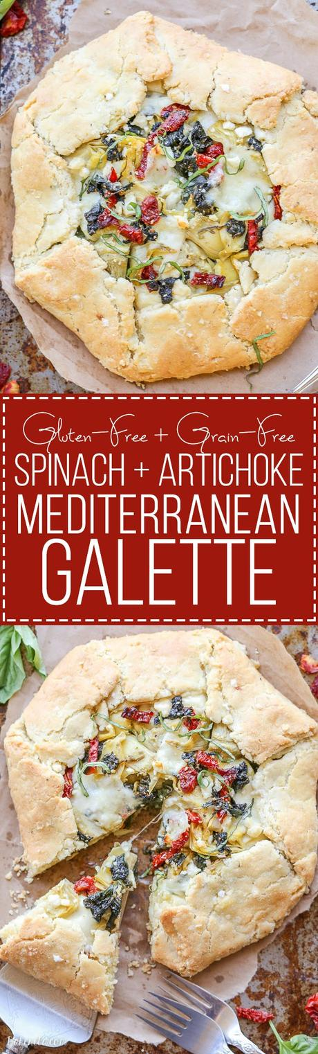 This Spinach + Artichoke Mediterranean Galette has sun-dried tomatoes ...