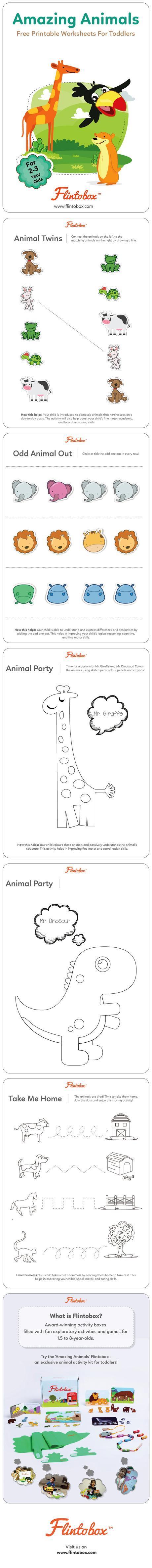 Amazing Animals Printable Worksheets