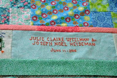 A Wedding Quilt for Joe and Julie Claire