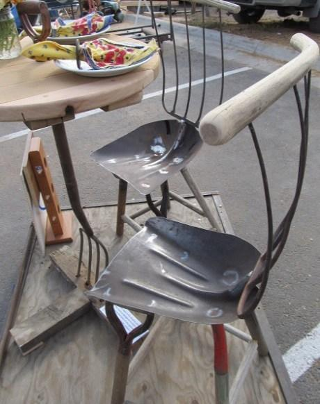 Garden Tools Transformed Into a Chair
