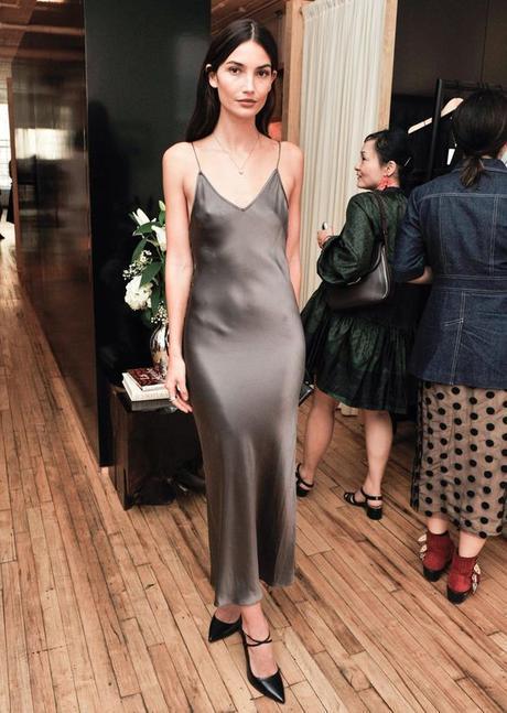 lily aldridge slip dress summer trends 2016