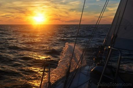 last sunset at sea: no more ocean sunsets for a while