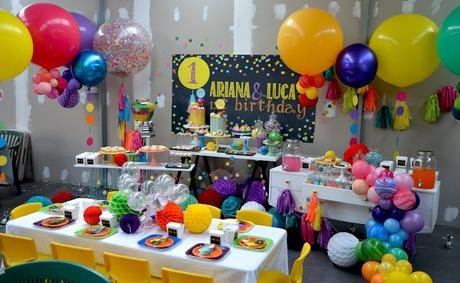 Confetti, Tassel and Balloon Themed 1st Birthday by Sugar Coated Candy Dessert Buffets