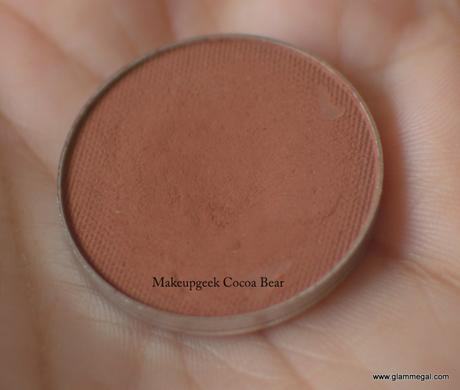 Makeupgeek Cocoa Bear review price swatches