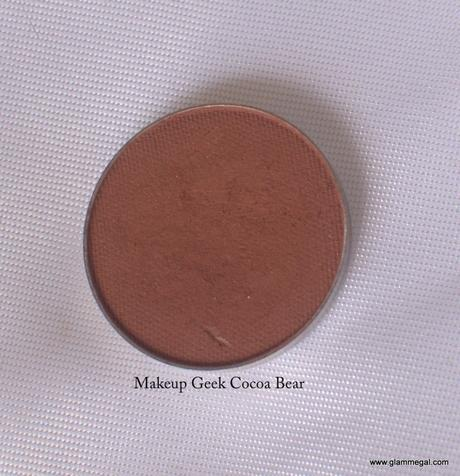 Makeupgeek Cocoa Bear review