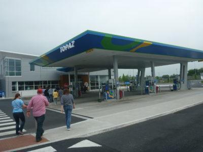 Petrol station stop in Laois