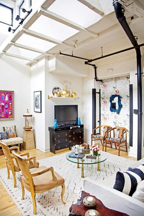 An elegant bohemian loft
