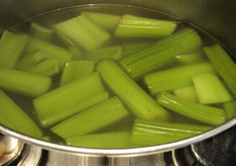 Vegan Green Celery Dinner!