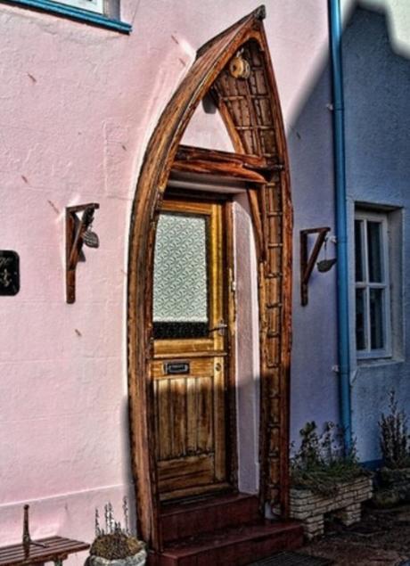 Rowing Boat Transformed Into a Door