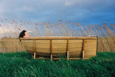 Rowing Boat Transformed Into a Bathtub