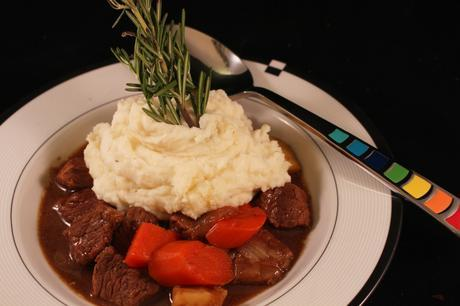 Guinness Irish Beef Stew in a bowl 2
