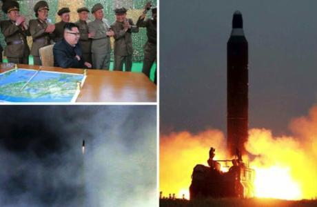 Photos from the top right of page 2 of the WPK daily newspaper Rodong Sinmun show the Hwaso'ng-10 (Musudan) IRBM and Kim Jong and senior WPK and KPA personnel celebrating the second successful test firing (Photos: Rodong Sinmun/KCNA).