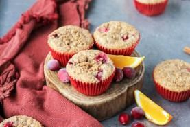 Cranberry Orange Muffins (Vegan)