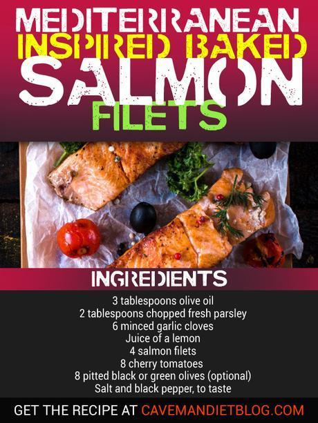 paleo dinner recipes mediterranean salmon with ingredients