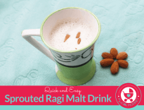 Quick and Easy Sprouted Ragi Malt Recipe