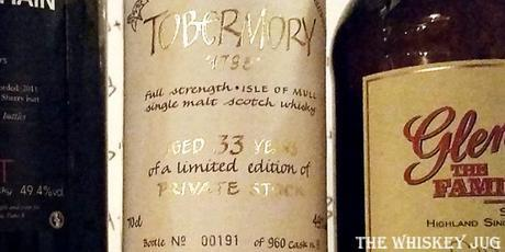 Tobermory 33 Years Label