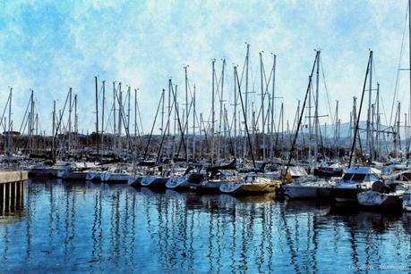 Hendaye Harbour, France (Digital paintings)