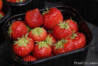Image: Strawberries, North Yorkshire, UK (c) FreeFoto.com. Photographer: Ian Britton