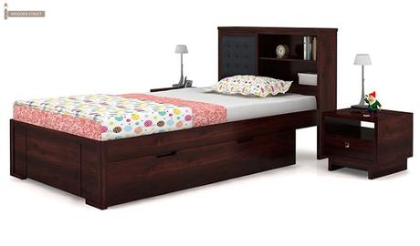6 best single bed designs you can find at wooden street for Where can you buy beds