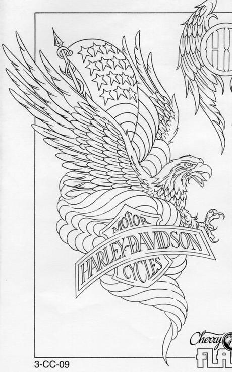 American eagle harley davidson tattoo with blueprint paperblog american eagle harley davidson blueprint malvernweather Gallery