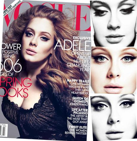 Adele Graces Vogue's March 2012 Cover – Eyeliner Check, Massive