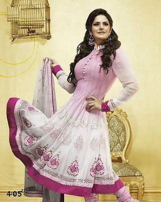 Zarine Khan Latest Anarkali Frocks Collection