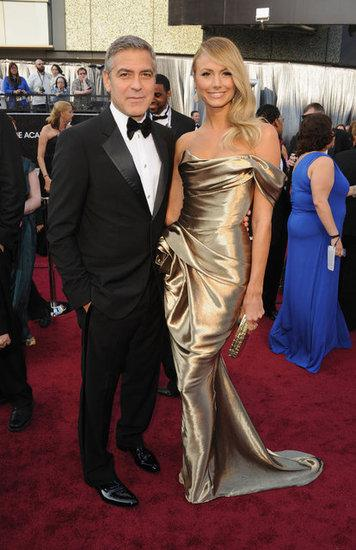 George Clooney 2012 Oscars, george clooney, oscars, 2012, academy awards, stacey kiebler, marchesa, red carpet, best actor, best dressed
