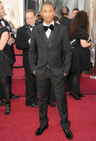 Pharell Williams Oscars 2012, oscars, 2012, academy awards, best dressed