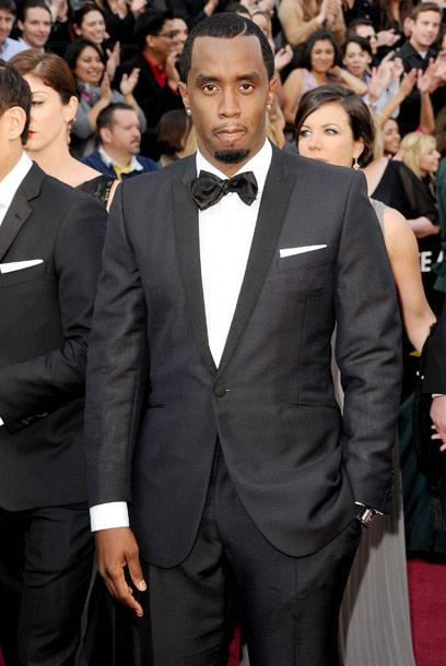 Diddy, sean combs, oscars, 2012, academy awards, tux, designer, who was diddy wearing