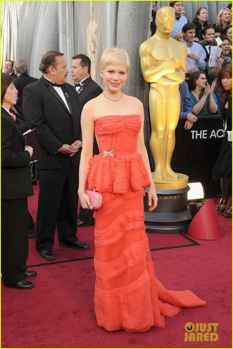 Michelle Williams, Oscars, 2012 oscars, Louis vuitton, forevermark, fred leighton