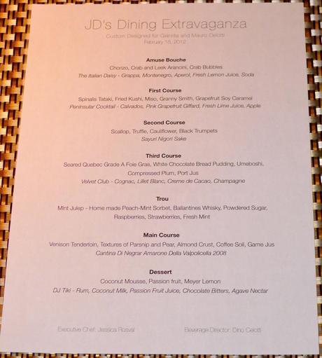 7 Course Dining Extravaganza – Menu Tease