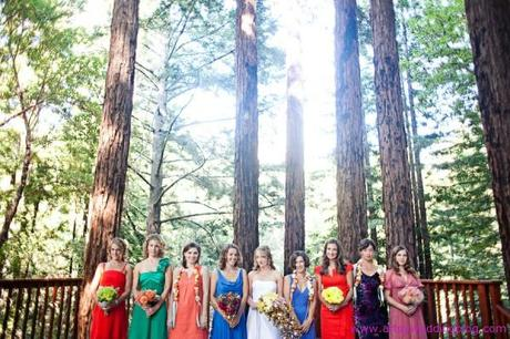 Creative and Relaxed Woodsy Buddhist Retreat Wedding