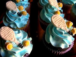 Tennis Cupcakes - I Could Go For That!