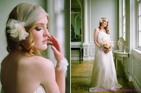 Bridal Hair styles to Best Match Your Veil Barrette and Headband