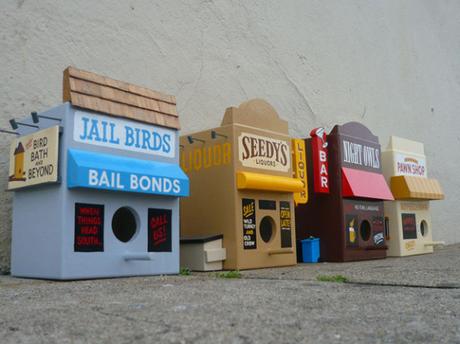For The Birds, bird houses by Luke Bartels & Jeff Canham: via myloveforyou.typepad.com