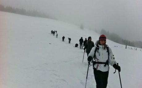 winter hiking german alps