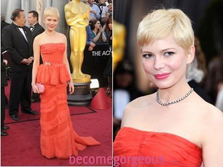 Michelle Williams 2012 Oscars Dress