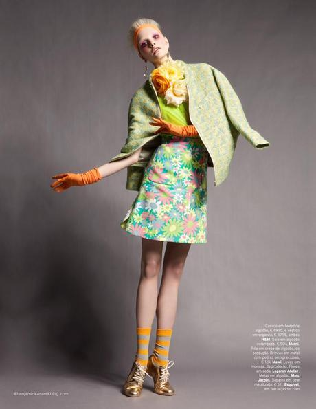 Dani Seitz in Candy Colour photographed by Benjamin Kanarek for VOGUE Portugal, April 2012