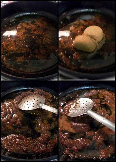 Vietnamese Caramel Claypot Pork - caramel sugar collage