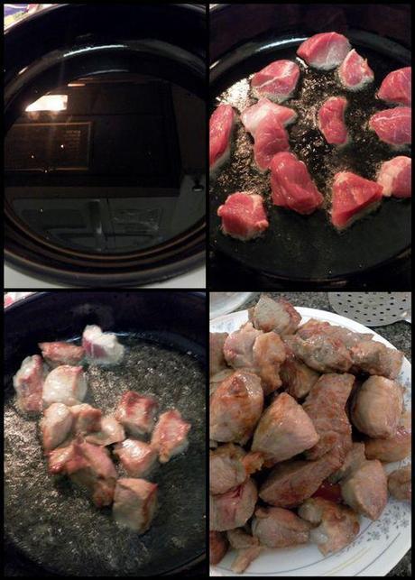 Vietnamese Caramel Claypot Pork - seared pork collage