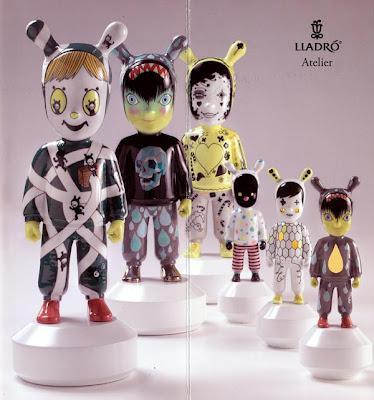 Lladro Atelier - designer porcelain by Hayon, Biskup, Devilrobots artists + a jazz soiree opening    Collecting News Briefs