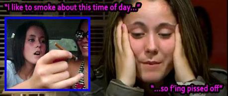 STRUNG OUT ON WEED? Teen Mom Jenelle Evans.