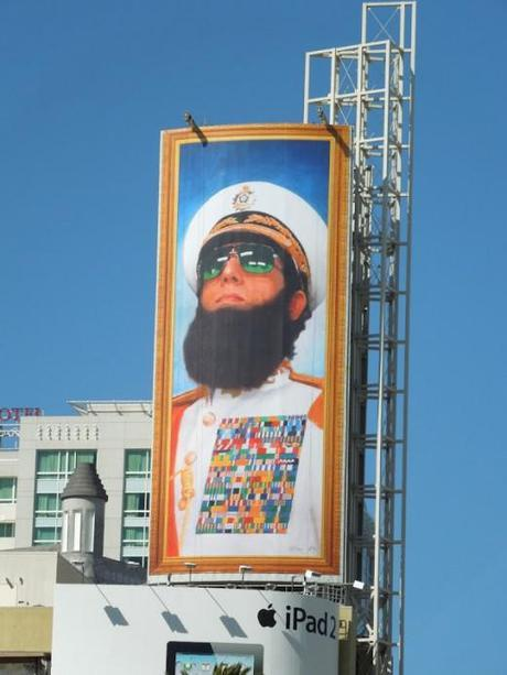 Sacha Baron Cohen - Dictator Movie Billboard - Military