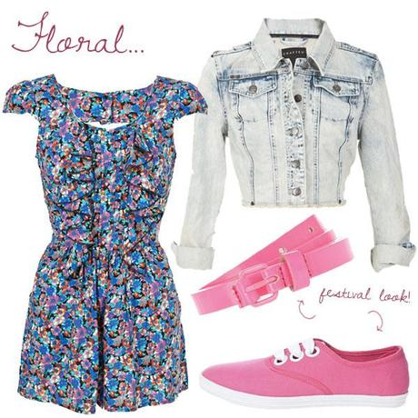 how to wear floral playsuits