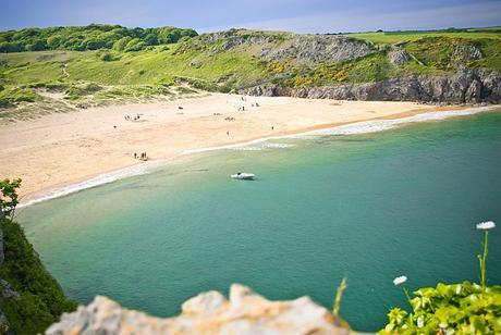 English: Barafundle beach on the coast of Pemb...