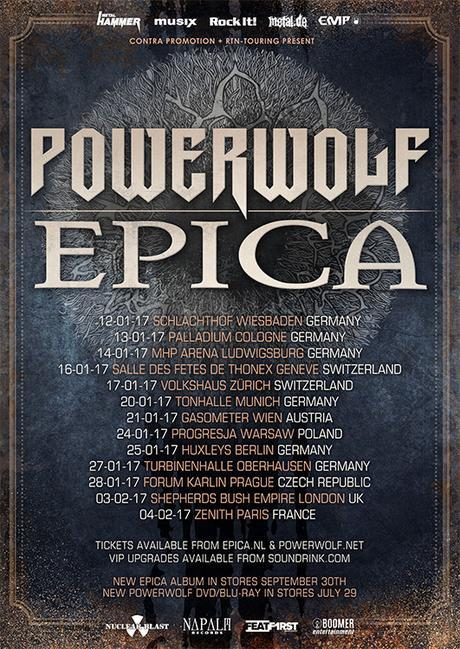 POWERWOLF And EPICA Join Forces for a co-headline European Tour 2017!