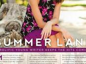 """PROLIFIC YOUNG WRITER KEEPS HITS COMING"" [Lifestyle Magazine Spread]"